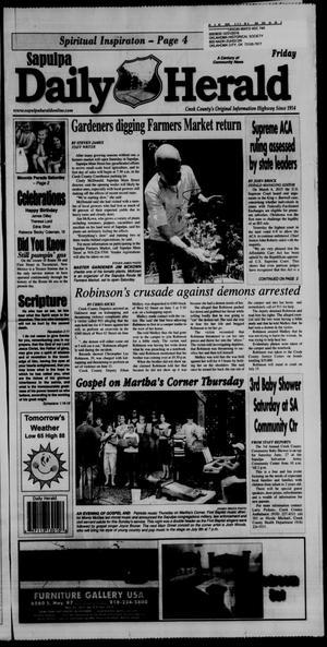 Primary view of Sapulpa Daily Herald (Sapulpa, Okla.), Vol. 100, No. 199, Ed. 1 Friday, June 26, 2015