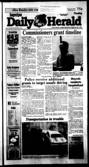 Primary view of Sapulpa Daily Herald (Sapulpa, Okla.), Vol. 98, No. 23, Ed. 1 Tuesday, October 16, 2012