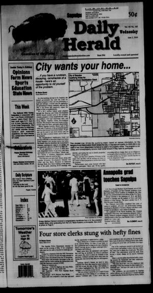 Primary view of Sapulpa Daily Herald (Sapulpa, Okla.), Vol. 95, No. 185, Ed. 1 Wednesday, June 2, 2010