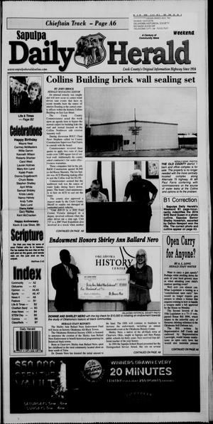 Primary view of object titled 'Sapulpa Daily Herald (Sapulpa, Okla.), Vol. 101, No. 106, Ed. 1 Sunday, March 13, 2016'.