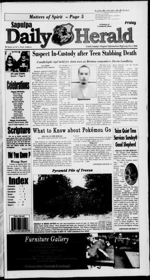 Primary view of Sapulpa Daily Herald (Sapulpa, Okla.), Vol. 201, No. 117, Ed. 1 Friday, July 22, 2016