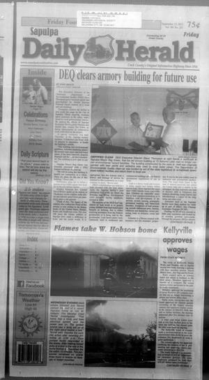 Primary view of Sapulpa Daily Herald (Sapulpa, Okla.), Vol. 98, No. 251, Ed. 1 Friday, September 13, 2013
