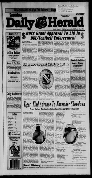 Primary view of Sapulpa Daily Herald (Sapulpa, Okla.), Vol. 97, No. 5, Ed. 1 Tuesday, September 20, 2011