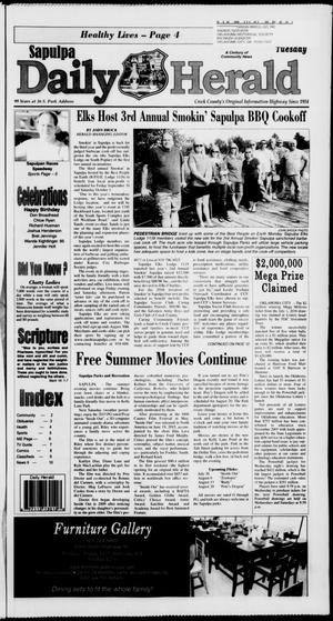Primary view of Sapulpa Daily Herald (Sapulpa, Okla.), Vol. 201, No. 119, Ed. 1 Tuesday, July 26, 2016