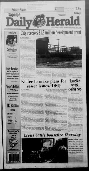 Primary view of object titled 'Sapulpa Daily Herald (Sapulpa, Okla.), Vol. 98, No. 6, Ed. 1 Friday, September 21, 2012'.