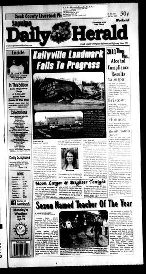 Primary view of Sapulpa Daily Herald (Sapulpa, Okla.), Vol. 96, No. 132, Ed. 1 Sunday, March 20, 2011