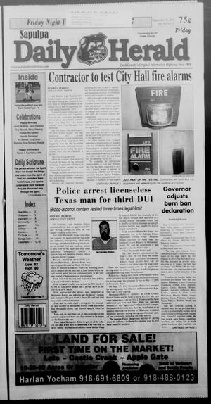 Primary view of Sapulpa Daily Herald (Sapulpa, Okla.), Vol. 98, No. 11, Ed. 1 Friday, September 28, 2012