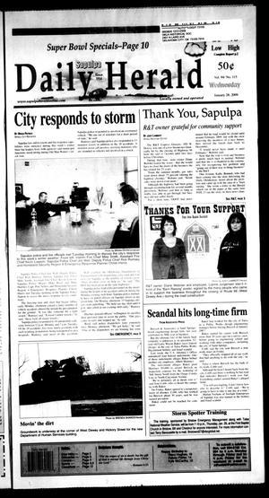 Primary view of Sapulpa Daily Herald (Sapulpa, Okla.), Vol. 94, No. 115, Ed. 1 Wednesday, January 28, 2009