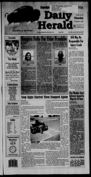 Primary view of Sapulpa Daily Herald (Sapulpa, Okla.), Vol. 96, No. 38, Ed. 1 Thursday, November 4, 2010