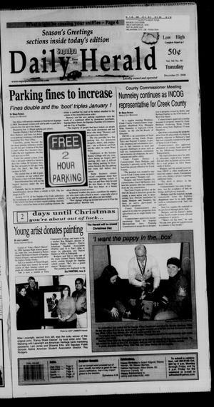 Primary view of Sapulpa Daily Herald (Sapulpa, Okla.), Vol. 94, No. 86, Ed. 1 Tuesday, December 23, 2008