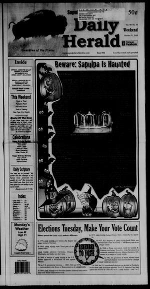 Primary view of Sapulpa Daily Herald (Sapulpa, Okla.), Vol. 96, No. 35, Ed. 1 Sunday, October 31, 2010