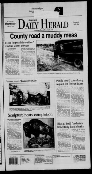 Primary view of Sapulpa Daily Herald (Sapulpa, Okla.), Vol. 92, No. 189, Ed. 1 Wednesday, June 20, 2007