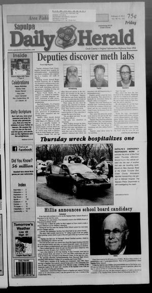Primary view of Sapulpa Daily Herald (Sapulpa, Okla.), Vol. 98, No. 102, Ed. 1 Friday, February 8, 2013