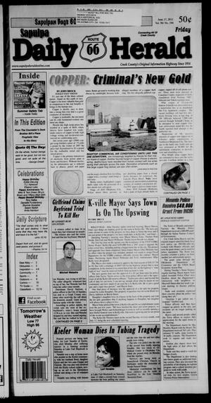 Primary view of Sapulpa Daily Herald (Sapulpa, Okla.), Vol. 96, No. 194, Ed. 1 Friday, June 17, 2011