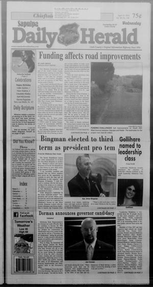 Primary view of Sapulpa Daily Herald (Sapulpa, Okla.), Vol. 99, No. 148, Ed. 1 Wednesday, April 16, 2014