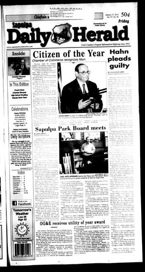 Primary view of object titled 'Sapulpa Daily Herald (Sapulpa, Okla.), Vol. 97, No. 96, Ed. 1 Friday, January 27, 2012'.