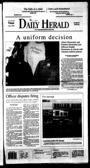 Primary view of Sapulpa Daily Herald (Sapulpa, Okla.), Vol. 92, No. 228, Ed. 1 Friday, August 3, 2007