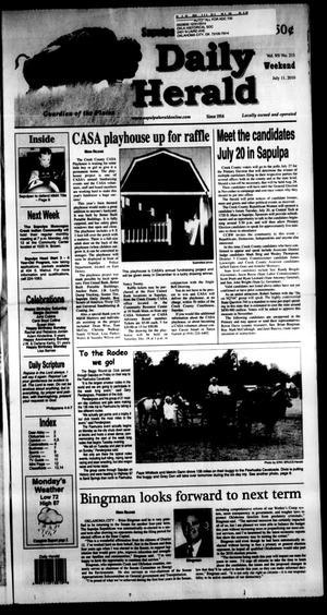 Primary view of Sapulpa Daily Herald (Sapulpa, Okla.), Vol. 95, No. 213, Ed. 1 Sunday, July 11, 2010