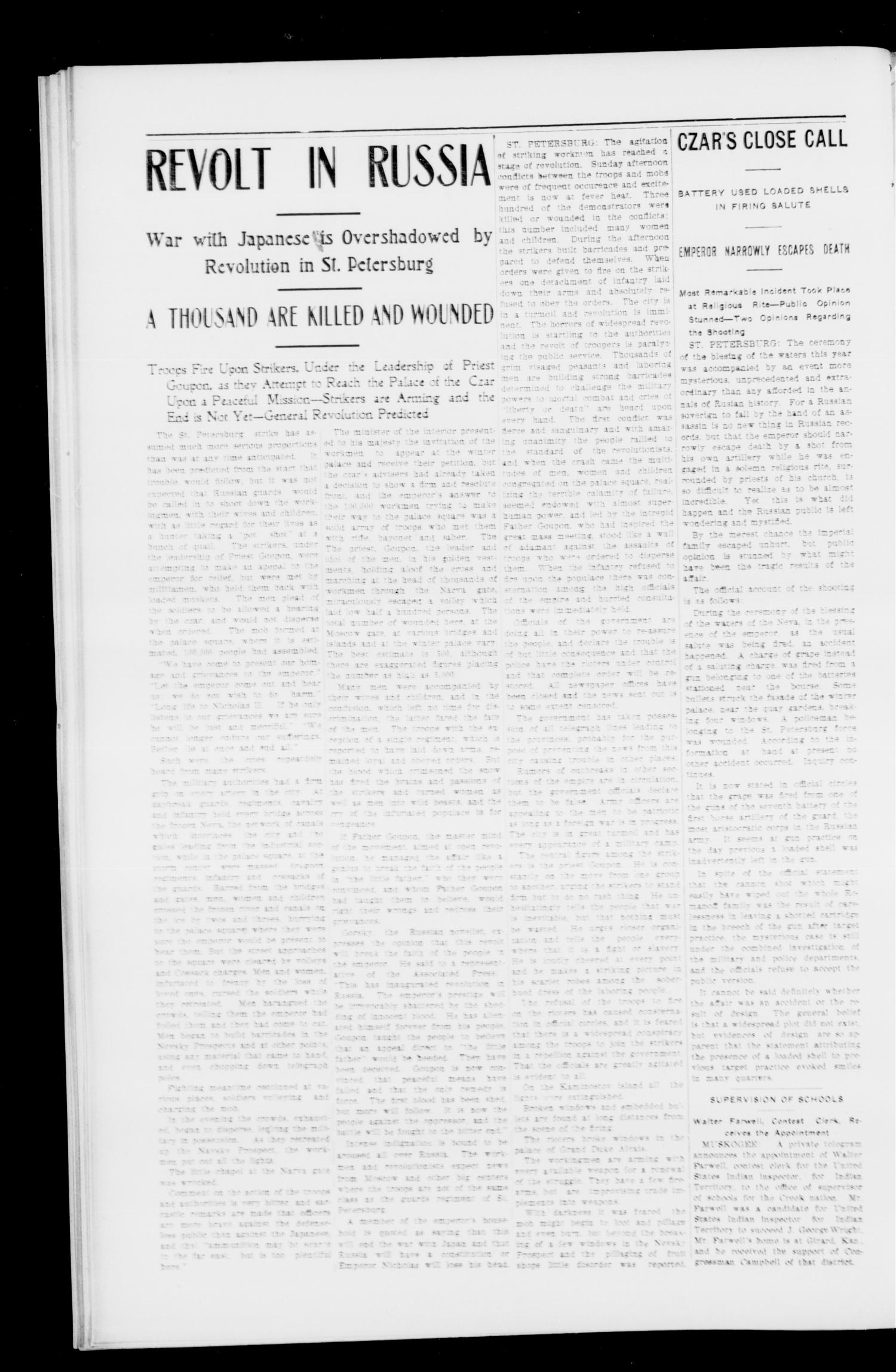 The Hartshorne Sun. (Hartshorne, Indian Terr.), Vol. 10, No. 50, Ed. 1 Thursday, January 26, 1905                                                                                                      [Sequence #]: 2 of 14