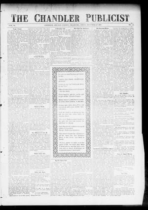 Primary view of object titled 'The Chandler Publicist (Chandler, Okla.), Vol. 14, No. 35, Ed. 1 Friday, December 27, 1907'.