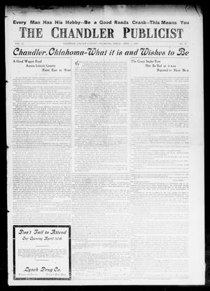 Primary view of object titled 'The Chandler Publicist (Chandler, Okla.), Vol. 15, No. 49, Ed. 1 Friday, April 2, 1909'.