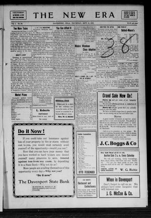 Primary view of The New Era (Davenport, Okla.), Vol. 1, No. 34, Ed. 1 Thursday, September 16, 1909