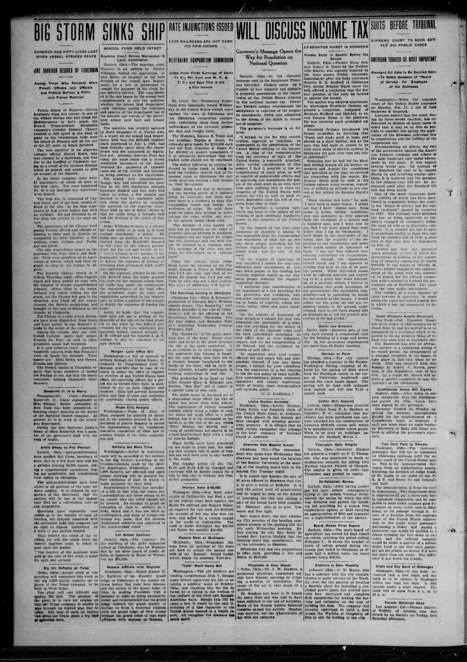The New Era (Davenport, Okla.), Vol. 2, No. 4, Ed. 1 Thursday, February 17, 1910                                                                                                      [Sequence #]: 4 of 6