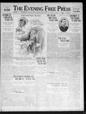 Primary view of object titled 'The Evening Free Press (Oklahoma City, Okla.), Vol. 1, No. 28, Ed. 1 Friday, December 16, 1910'.