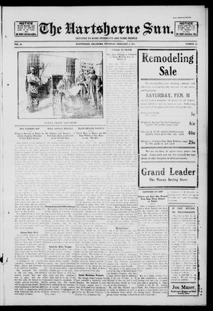 Primary view of The Hartshorne Sun. (Hartshorne, Okla.), Vol. 16, No. 49, Ed. 1 Thursday, February 9, 1911