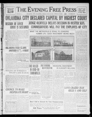 Primary view of object titled 'The Evening Free Press (Oklahoma City, Okla.), Vol. 1, No. 168, Ed. 1 Monday, May 29, 1911'.