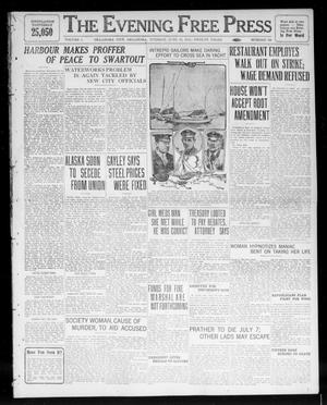 Primary view of object titled 'The Evening Free Press (Oklahoma City, Okla.), Vol. 1, No. 181, Ed. 1 Tuesday, June 13, 1911'.