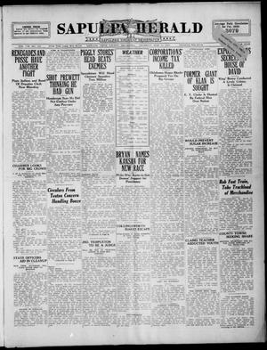 Primary view of Sapulpa Herald (Sapulpa, Okla.), Vol. 8, No. 170, Ed. 1 Thursday, March 22, 1923
