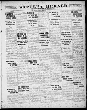 Primary view of Sapulpa Herald (Sapulpa, Okla.), Vol. 4, No. 39, Ed. 1 Wednesday, October 17, 1917