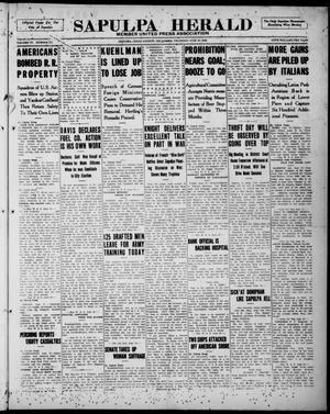 Primary view of Sapulpa Herald (Sapulpa, Okla.), Vol. 4, No. 251, Ed. 1 Thursday, June 27, 1918