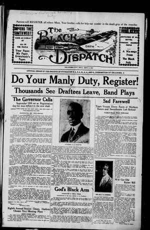 Primary view of The Black Dispatch (Oklahoma City, Okla.), Vol. 5, No. 32, Ed. 1 Friday, September 6, 1918
