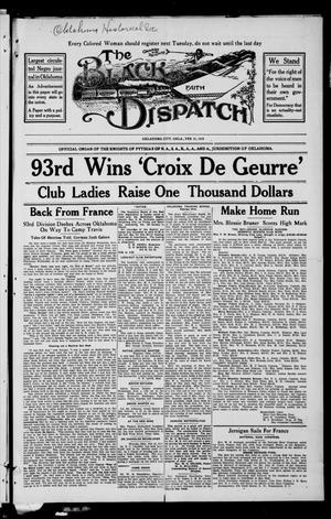 Primary view of The Black Dispatch (Oklahoma City, Okla.), Vol. 5, No. 4, Ed. 1 Friday, February 21, 1919
