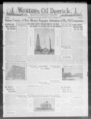 Primary view of object titled 'Western Oil Derrick (Oklahoma City, Okla.), Vol. 2, No. 11, Ed. 1 Saturday, November 15, 1919'.