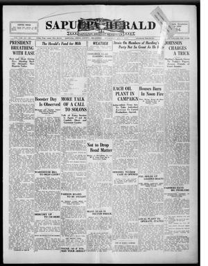 Primary view of Sapulpa Herald (Sapulpa, Okla.), Vol. 8, No. 281, Ed. 1 Wednesday, August 1, 1923