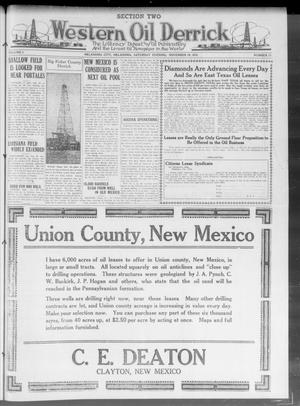 Primary view of object titled 'Western Oil Derrick (Oklahoma City, Okla.), Vol. 2, No. 13, Ed. 2 Saturday, November 29, 1919'.