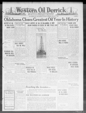 Primary view of object titled 'Western Oil Derrick (Oklahoma City, Okla.), Vol. 3, No. 1, Ed. 1 Saturday, January 3, 1920'.