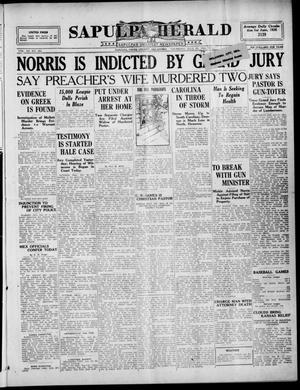 Primary view of Sapulpa Herald (Sapulpa, Okla.), Vol. 11, No. 279, Ed. 1 Thursday, July 29, 1926