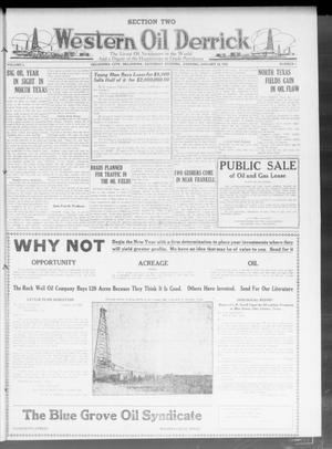 Primary view of object titled 'Western Oil Derrick (Oklahoma City, Okla.), Vol. 3, No. 2, Ed. 2 Saturday, January 10, 1920'.