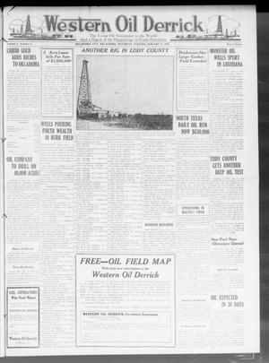 Primary view of object titled 'Western Oil Derrick (Oklahoma City, Okla.), Vol. 3, No. 3, Ed. 1 Saturday, January 17, 1920'.
