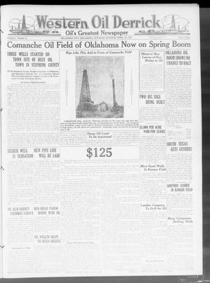 Primary view of object titled 'Western Oil Derrick (Oklahoma City, Okla.), Vol. 3, No. 15, Ed. 1 Saturday, April 10, 1920'.
