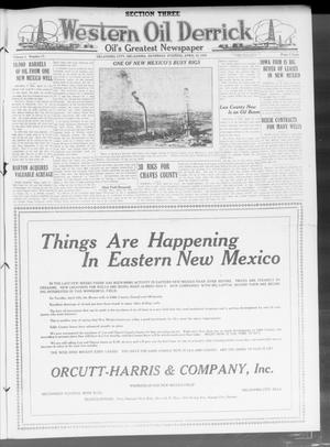 Primary view of object titled 'Western Oil Derrick (Oklahoma City, Okla.), Vol. 3, No. 17, Ed. 3 Saturday, April 24, 1920'.