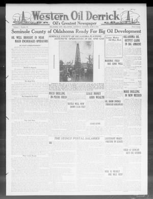Primary view of object titled 'Western Oil Derrick (Oklahoma City, Okla.), Vol. 3, No. 23, Ed. 1 Saturday, June 5, 1920'.