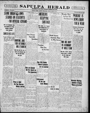Primary view of Sapulpa Herald (Sapulpa, Okla.), Vol. 3, No. 159, Ed. 1 Friday, March 9, 1917