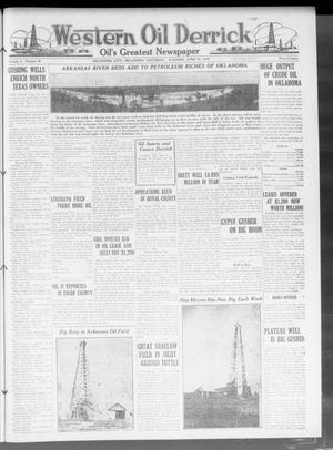 Primary view of object titled 'Western Oil Derrick (Oklahoma City, Okla.), Vol. 3, No. 26, Ed. 1 Saturday, June 26, 1920'.