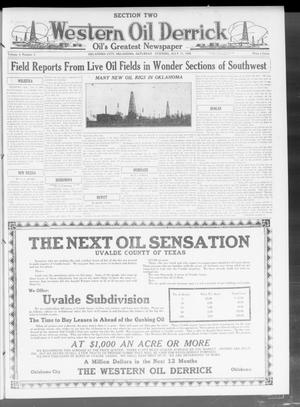 Primary view of object titled 'Western Oil Derrick (Oklahoma City, Okla.), Vol. 4, No. 3, Ed. 2 Saturday, July 17, 1920'.