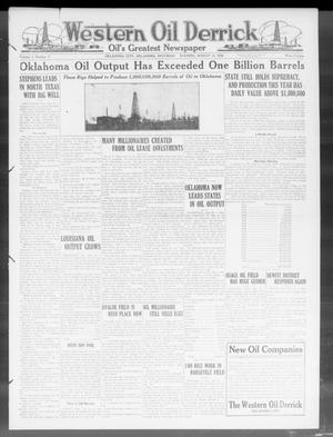 Primary view of object titled 'Western Oil Derrick (Oklahoma City, Okla.), Vol. 4, No. 7, Ed. 1 Saturday, August 14, 1920'.